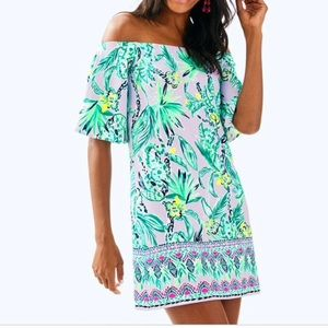 Lilly Pulitzer Fawcett off the shoulder dress XS